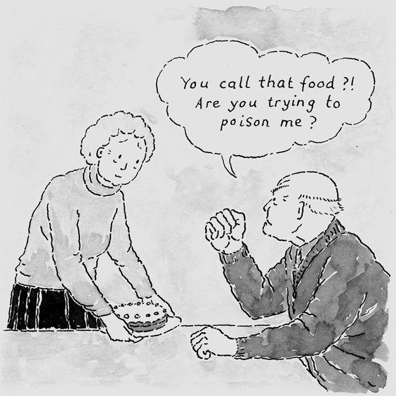 Suspicion and Aggression - Dementia Illustration